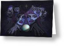062 - Demons B Greeting Card by Irmgard Schoendorf Welch