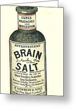 1890s Uk Brain Salt Headaches Humour Greeting Card by The Advertising Archives
