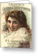 1890s Uk Calvert Toothpaste Greeting Card by The Advertising Archives