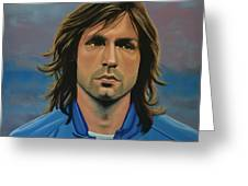 Andrea Pirlo Greeting Card by Paul Meijering