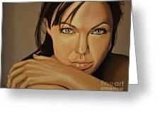 Angelina Jolie Voight Greeting Card by Paul Meijering