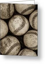 Baseballs Greeting Card by Diane Diederich