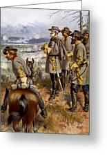Battle Of Fredericksburg Greeting Card by American School