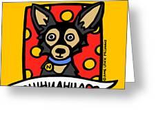 Chihuahua Love Greeting Card by Anne Leuck Feldhaus