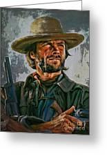 Clint Eastwood Greeting Card by Andrzej Szczerski