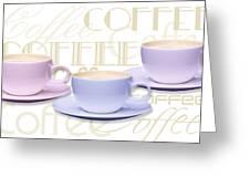 Coffee Time 2 Greeting Card by Natalie Kinnear