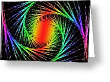 Colorful Fractals Greeting Card by Mikki Cucuzzo