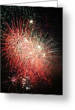 Fireworks Greeting Card by Alan Hutchins