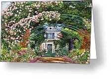 Flowering Arbor Giverny Greeting Card by David Lloyd Glover