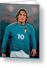 Francesco Totti Italia Greeting Card by Paul Meijering