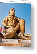 Great Bronze Hanuman - India Greeting Card by Luciano Mortula