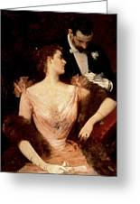 Invitation To The Waltz Greeting Card by Francesco Miralles Galaup