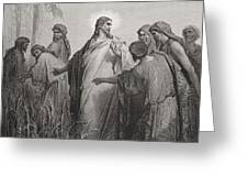 Jesus and His Disciples in the Corn Field Greeting Card by Gustave Dore