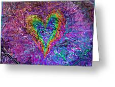 Love From The Ripple Of Thought  V 5  Greeting Card by Kenneth James