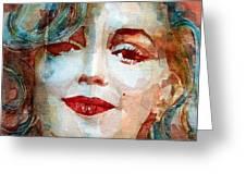 Marilyn   Greeting Card by Paul Lovering