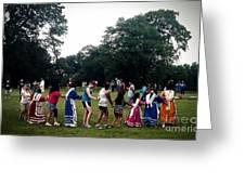 Oklahoma Choctaw Youth Dancing Greeting Card by R McLellan