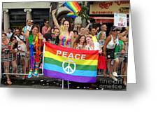 Peace And Pride Greeting Card by Ed Weidman