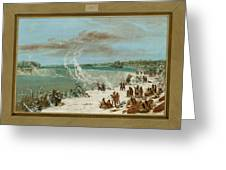 Portage Around The Falls Of Niagara At Table Rock Greeting Card by George Catlin