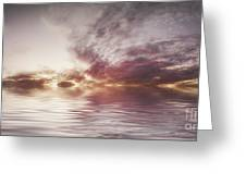 Reflection Of Mauve Skies Greeting Card by Holly Martin