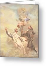 Saint Benedict And Saint Francis Of Assisi Greeting Card by John Alan  Warford