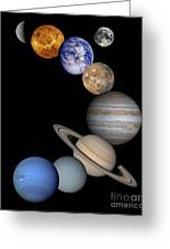 Solar System Montage Greeting Card by Anonymous