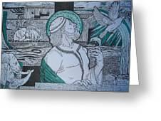 Story Of Noah Greeting Card by Ottilia Zakany