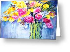 Symphony Of Color Greeting Card by Maryann Schigur