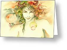 The Capricorn Greeting Card by Anna Ewa Miarczynska