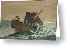 The Herring Net Greeting Card by Winslow Homer