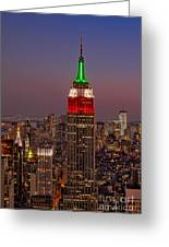 Top Of The Rock Greeting Card by Susan Candelario