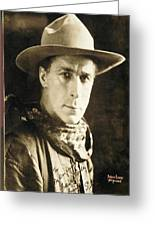 William S. Hart Portrait C.1918 Nelson Miles Photographer Virginia City Montana 1971 Greeting Card by David Lee Guss