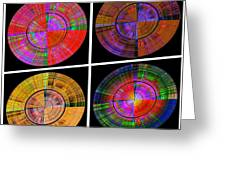 0454 Abstract Thought Greeting Card by Chowdary V Arikatla