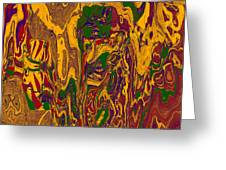 0478 Abstract Thought Greeting Card by Chowdary V Arikatla