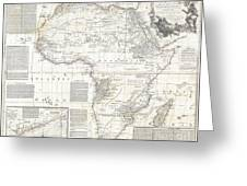 1794 Boulton And Anville Wall Map Of Africa Greeting Card by Paul Fearn