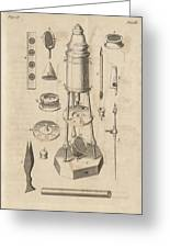 18th Century Microscope, Artwork Greeting Card by Science Photo Library