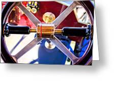1907 Panhard et Levassor Demi Toneau 38 HP Steering Wheel Greeting Card by Jill Reger