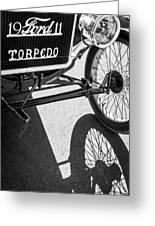 1911 Ford Model T Torpedo Grille Emblem Greeting Card by Jill Reger