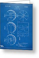 1929 Basketball Patent Artwork - Blueprint Greeting Card by Nikki Marie Smith
