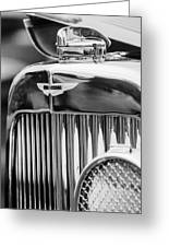 1934 Aston Martin Mark II Short Chassis 2-4 Seater Grille Emblem Greeting Card by Jill Reger