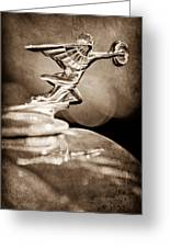 1934 Packard Coupe Hood Ornament Greeting Card by Jill Reger
