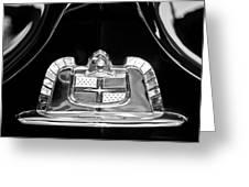 1950 Lincoln Cosmopolitan Limousine Emblem Greeting Card by Jill Reger