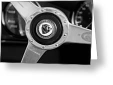 1951 Jaguar Steering Wheel Emblem Greeting Card by Jill Reger