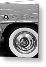 1951 Mercury Montclair Convertible Wheel Emblem Greeting Card by Jill Reger