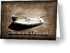 1954 Chevrolet Power Glide Emblem Greeting Card by Jill Reger