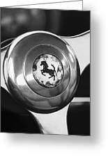 1955 Ferrari 250 Europa Gt Pinin Farina Berlinetta Steering Wheel Emblem Greeting Card by Jill Reger