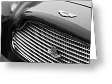 1960 Aston Martin DB4 GT Coupe' Grille Emblem Greeting Card by Jill Reger