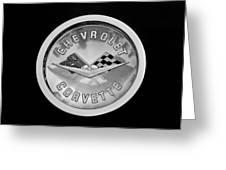 1960 Chevrolet Corvette Roadster Emblem Greeting Card by Jill Reger