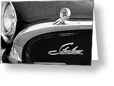 1960 Ford Galaxie Starliner Hood Ornament - Emblem Greeting Card by Jill Reger