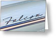 1963 Ford Falcon Futura Convertible  Emblem Greeting Card by Jill Reger