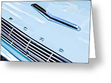 1963 Ford Falcon Futura Convertible Hood Emblem Greeting Card by Jill Reger
